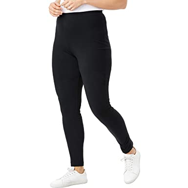 29dec725f Woman Within Women's Plus Size Tall Stretch Cotton Legging at Amazon ...