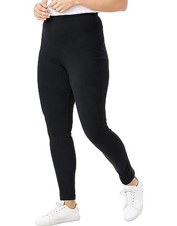 dcff22c976b1c Woman Within Women's Plus Size Stretch Cotton Legging