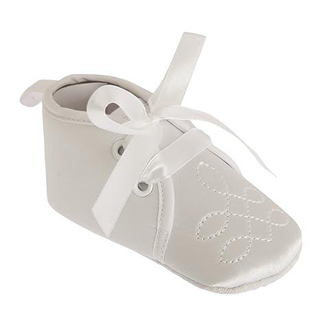 Nursery Time - Zapatos clásicos para bebé (0-6 Meses/Blanco ...