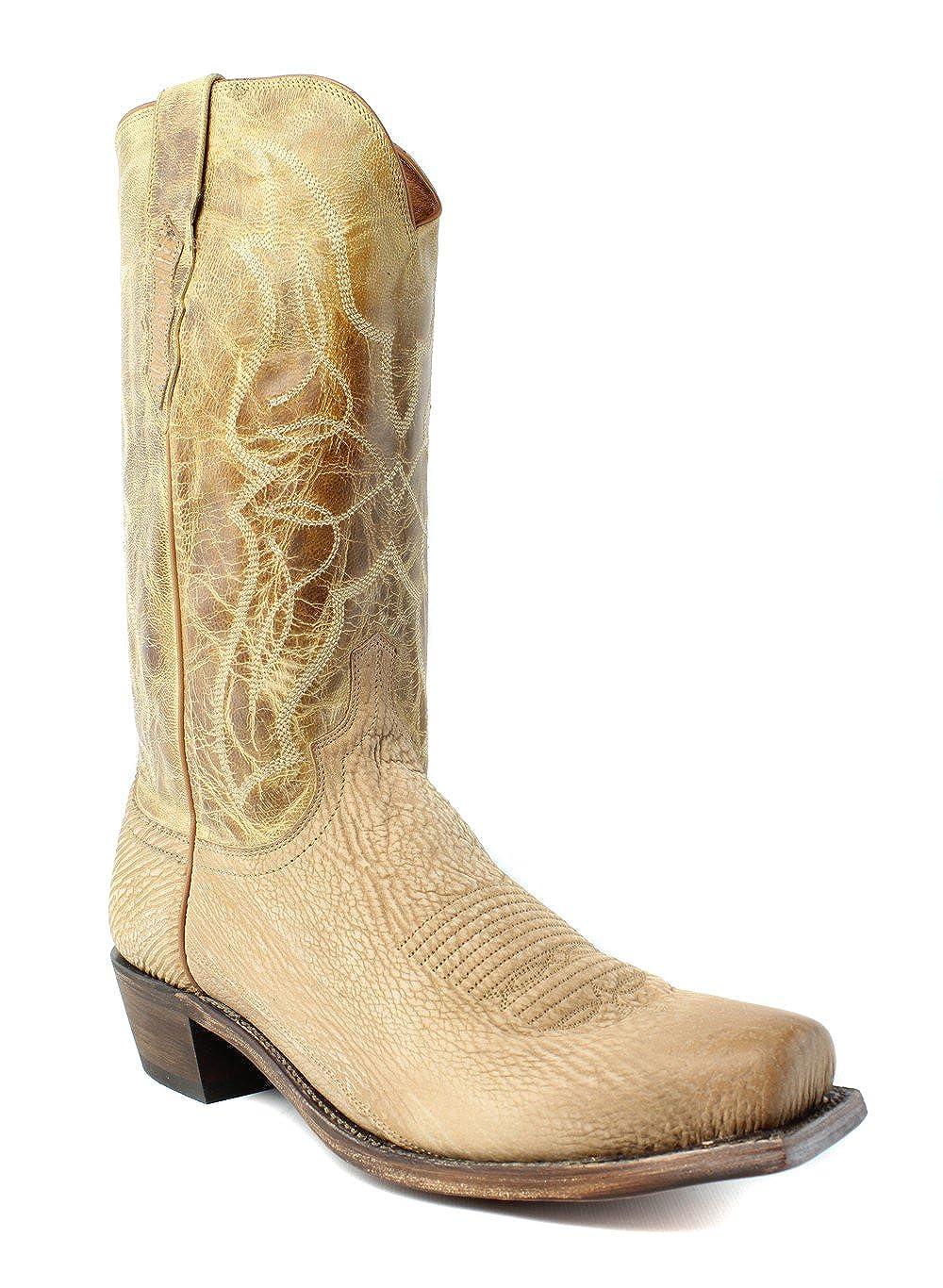 52b5e2f5033 Amazon.com   Lucchese New Mens M3190.74 Tan Cowboy, Western Boots ...