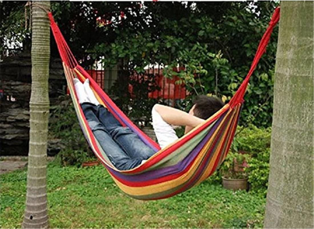 190 x 150 cm Traspirante BeiLan Amaca da Campeggio da Viaggio Portata Massima 150 kg Amaca Portatile Doppia per Zaino in Spalla Escursione Giardino