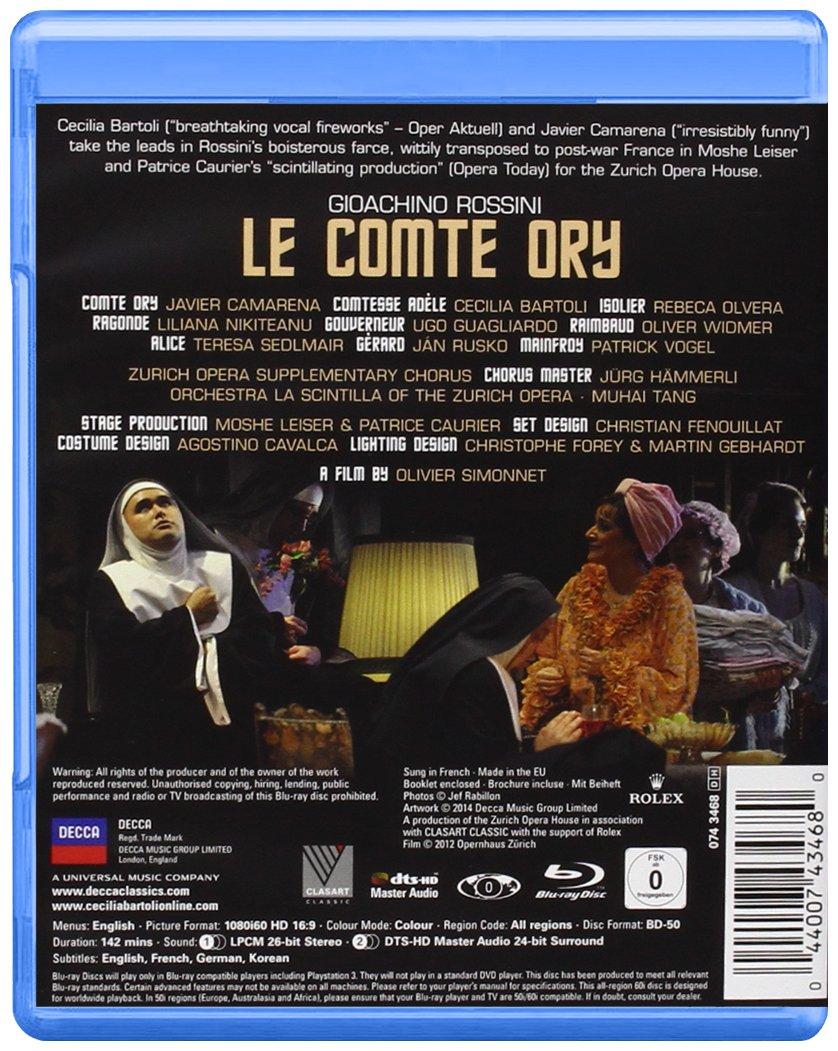 Amazon com: Rossini: Le Comte Ory [Blu-ray]: Cecilia Bartoli