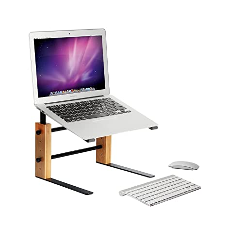 JackCubeDesign Soporte para computadora portátil Portátil ajustable Soporte para elevador Bambú elevador (29 (ancho