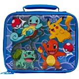 Lunch Bag - Pokemon -Pikachu, Squirtle, Bulbasaur & Charmander New 851351