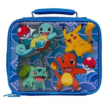 806f9ef9f0a2 Lunch Bag - Pokemon -Pikachu, Squirtle, Bulbasaur & Charmander New 851351