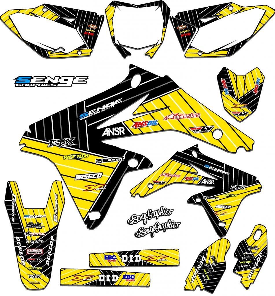Senge Graphics 1984-2004 (All Years) Suzuki RM 60, Race Series Yellow Graphics Kit Senge Graphics Inc. COMINU021619