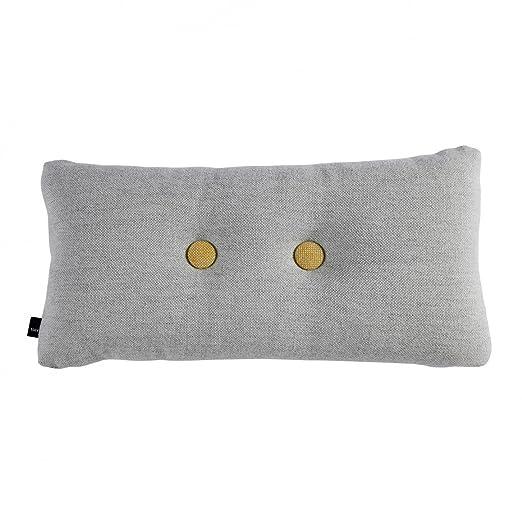 Hey Dot cojines del sofá 4 botones, hormigón gris tela ...