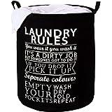 Hokipo Foldable Cloth Laundry Bag Hamper, Large 63-Ltr (Black)