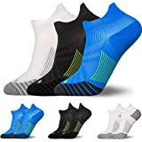 3 Pairs Compression Running Socks for Men & Women - TERSELY Low Cut No Show Athletic Socks for Stamina Circulation & Recovery - Ultra Durable Ankle Socks for Runners, Plantar Fasciitis