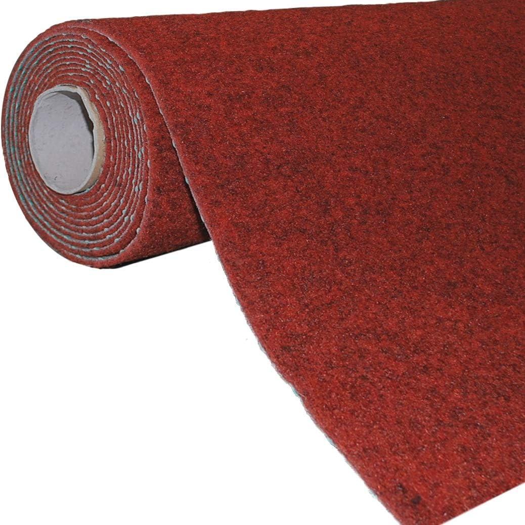 Farbe:Rot Meterware Balkon Terrasse Camping havatex Rasenteppich Kunstrasen mit Noppen 1.550 g//m/² wasserdurchl/ässig Gr/ö/ße:133 x 800 cm Rot Blau Grau Braun Beige oder Anthrazit