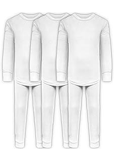 Boys Long John Ultra-Soft Cotton Stretch Base Layer Underwear Sets 3 Long Pants 6 Piece Mix /& Match 3 Long Sleeve Tops
