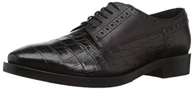 6647d7efcd9fa Geox Women's Brogue 11 Croc Embossed Dress Shoe Oxford, Black, 35 Medium EU  (