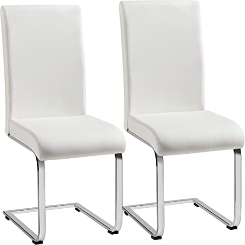 Yaheetech Dining Chairs High Back PU Leather Dining Room Chairs Upholstered Dining Side Chair