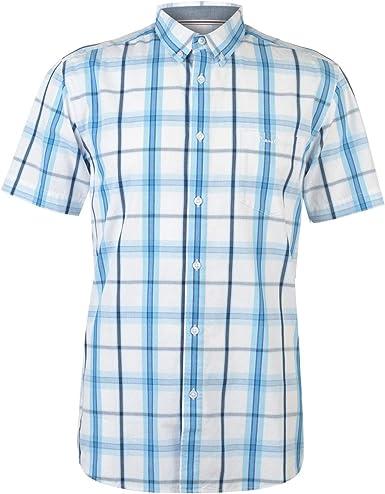 Pierre Cardin - Camisa de cuadros de manga corta para hombre: Amazon.es: Ropa y accesorios
