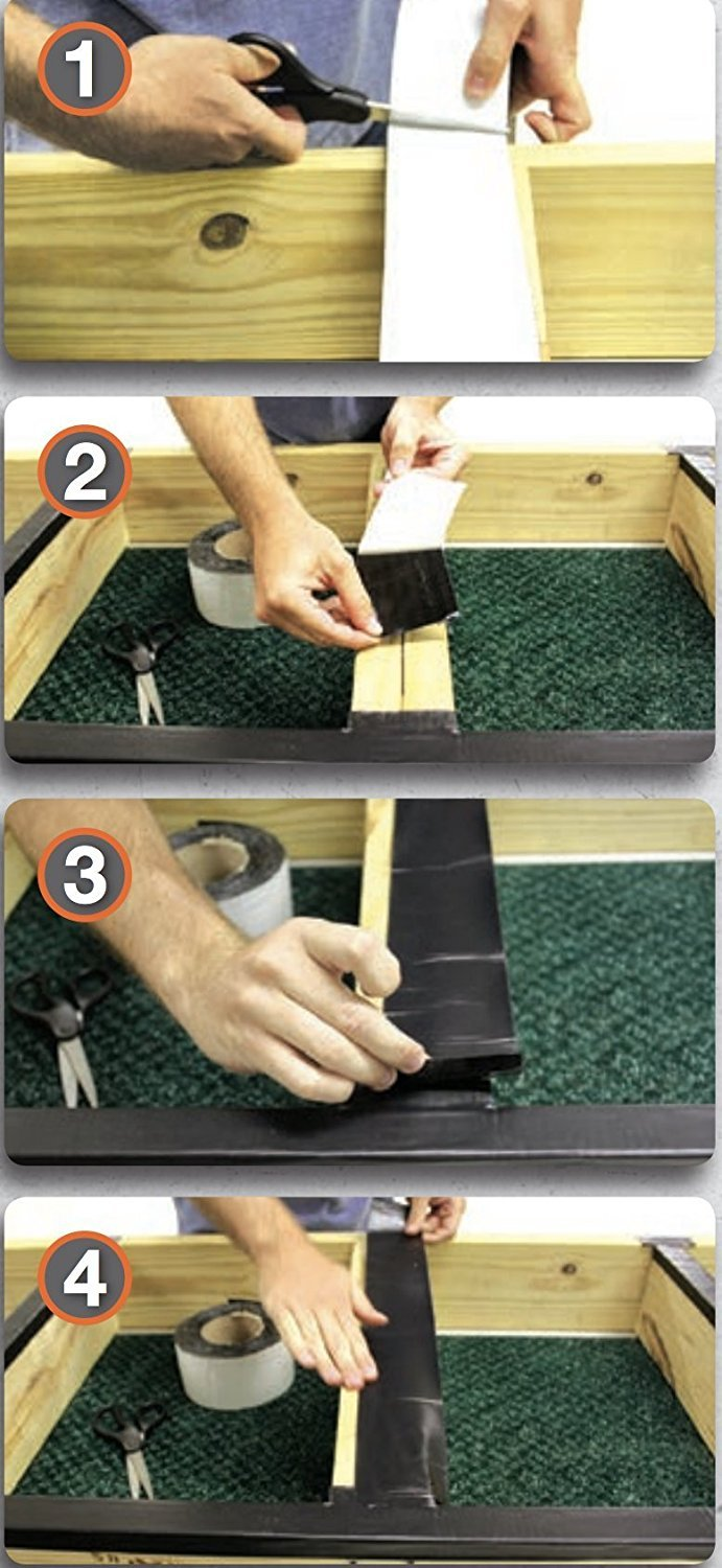 DeckWise WiseWrap JoistTape 3'' x 75' Self-Adhesive Deck Joist Flashing Tape for Hardwood, Thermal Wood, PVC, Pressure Treated, and Composite Decking (1 roll) by DeckWise (Image #2)