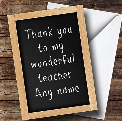 Pizarra profesor personalizado gracias tarjeta: Amazon.es ...