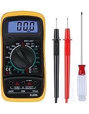 Zacro Mini Multimetro Digitale Elettrico Portatile per Tensione e Corrente AC DC, Tester Utensile con LCD Retroilluminazione