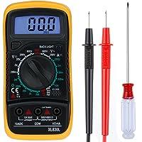 Zacro Multimètre Numérique Mini Multimètre Digital XL830L Testeur de Pile Courant Tension avec Ecran LCD avec un Tournevis pour Installez la Batterie(pile non fournie)