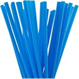 BAR-TY TIME! (250 Count) 7.75 Inch BPA-Free Plastic Drinking Straws (BLUE)