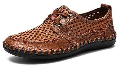 1132ca50263f MOHEM Men s Poseidon Casual Water Shoes Mesh Walking Quick Drying Hiking  Shoes(MH1687923L.Brown48