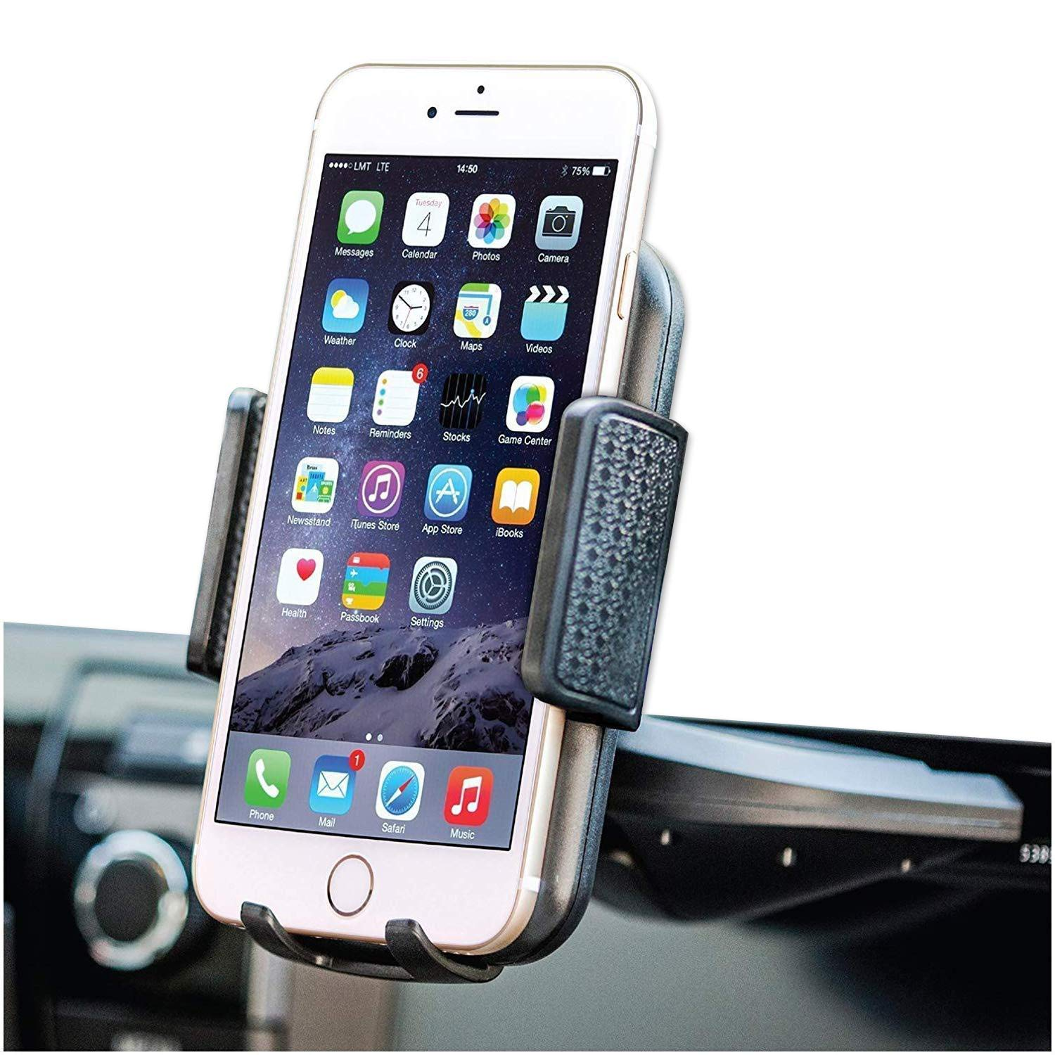 """Bestrix Universal CD Slot Phone Holder for Car Ideal for iPhone X, 8, 7, 6, 6S Plus. 5S, 5C, 5, Samsung Galaxy S5, S6, S7, S8, Edge/Plus Note 4,5,8, LG G4, G5, G6, All Smartphones up to 6"""""""