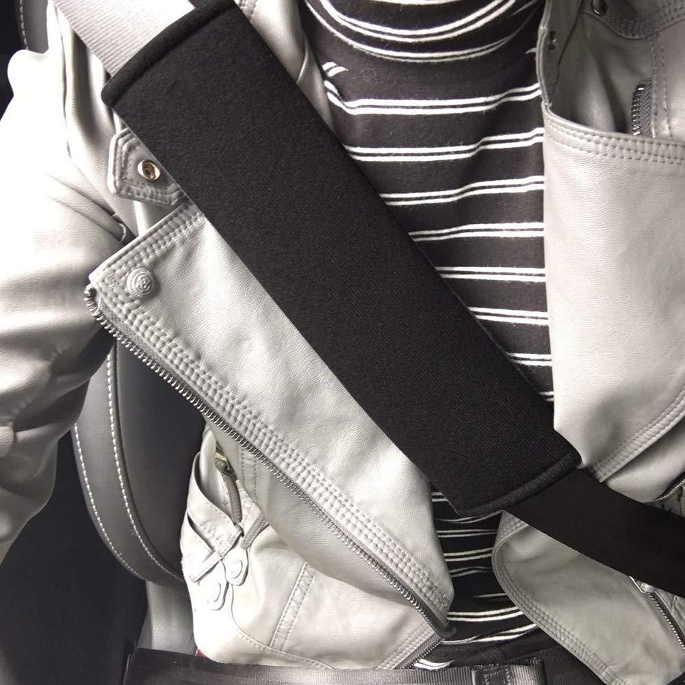 Supersuave ATpart con Correa para el Hombro Negro Negro Gruesa Funda Protectora para cintur/ón de Seguridad de Coche