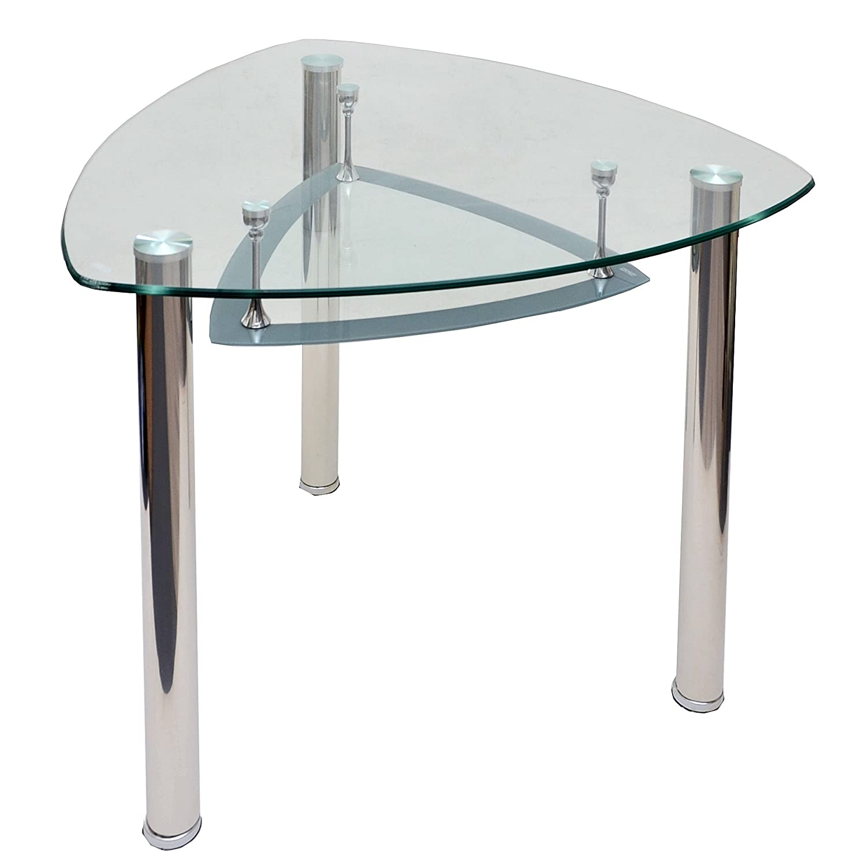 Glastisch Esstisch Küchentisch Dreieck Tisch Ecktisch Computertisch ...