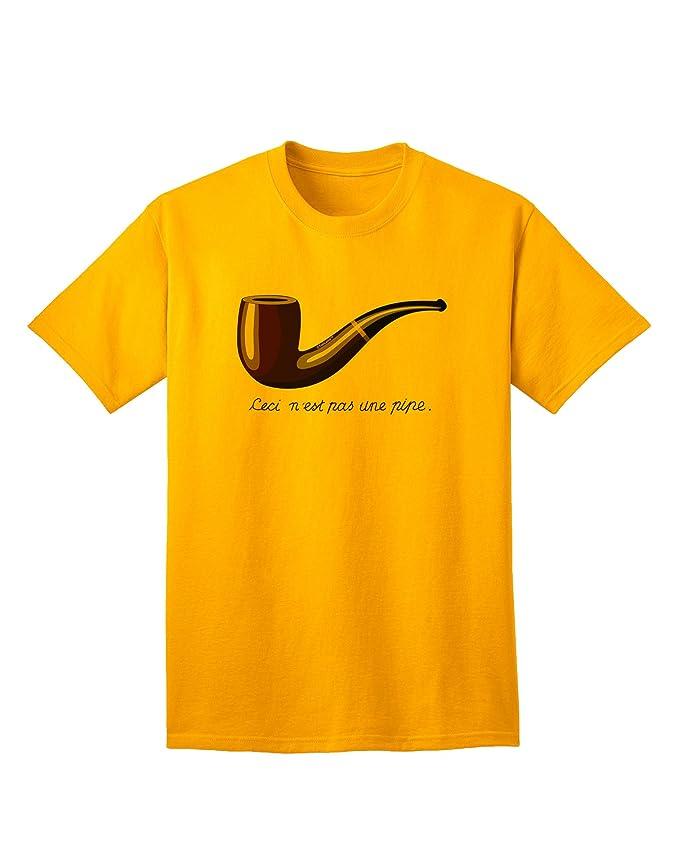 Amazon.com  TooLoud Ceci N est pas une Pipe Adult T-Shirt c71acbc2bd