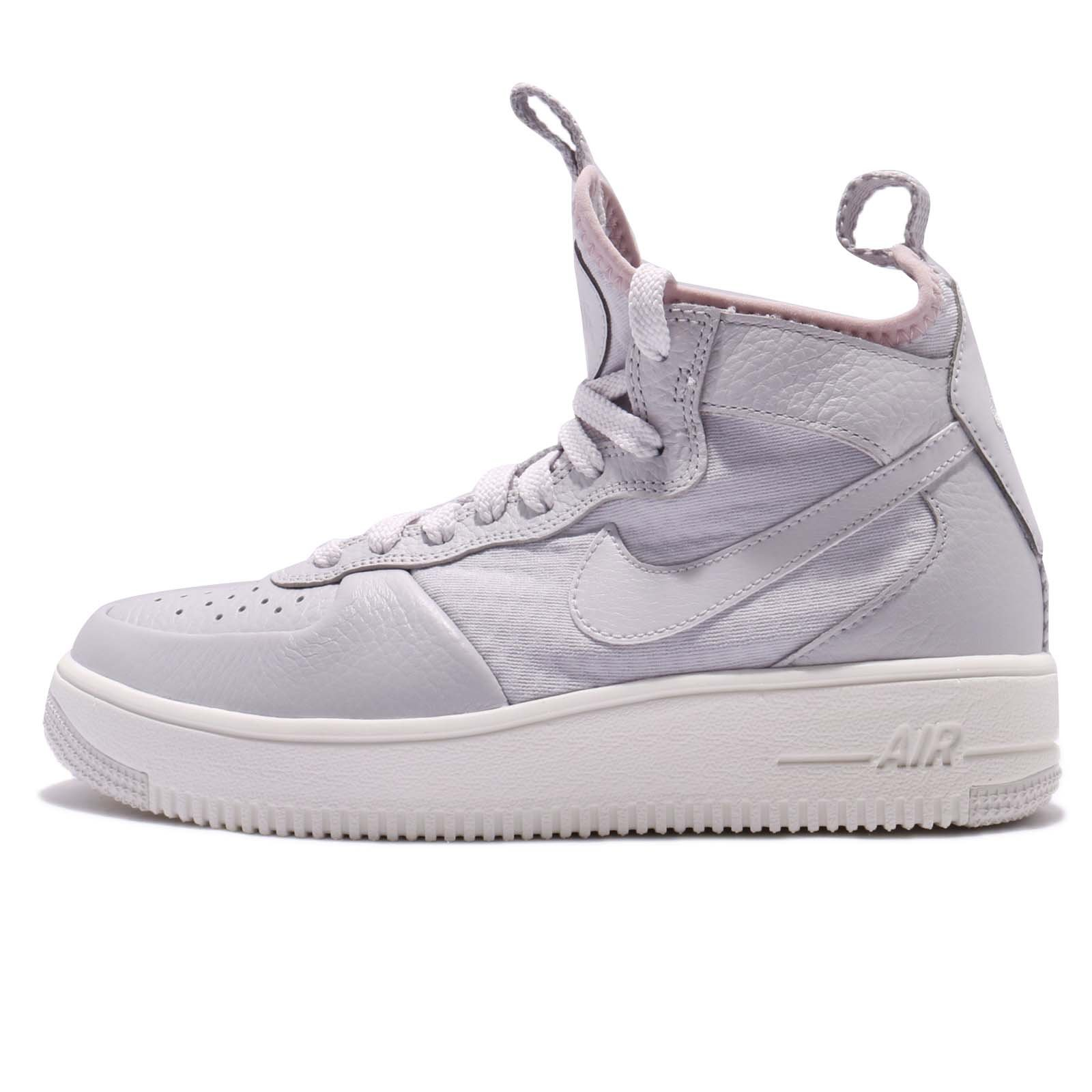 Nike W Air Force 1 Ultraforce Mid Womens Vast Grey/Vast Grey 7.5 M US by Nike