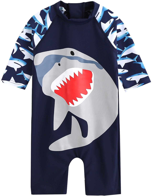 Vaenait Baby 0-24M Baby Boys Swimsuit Rashguard Swimwear Cooling Jaws BSW_035
