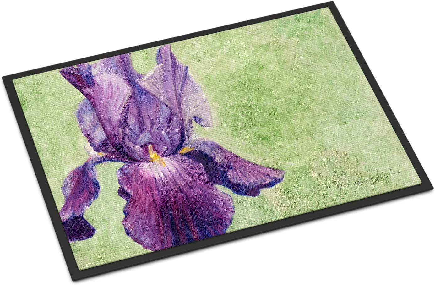 Caroline s Treasures TMTR0234JMAT Purple Iris by Malenda Trick Indoor or Outdoor Mat 24×36, 24H X 36W, Multicolor