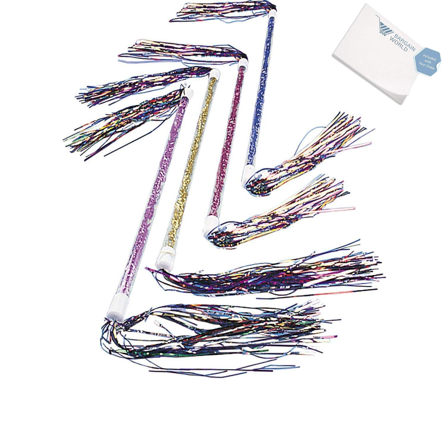 Bargain World Clear Plastic Tinsel Twirler Batons (With Sticky Notes)