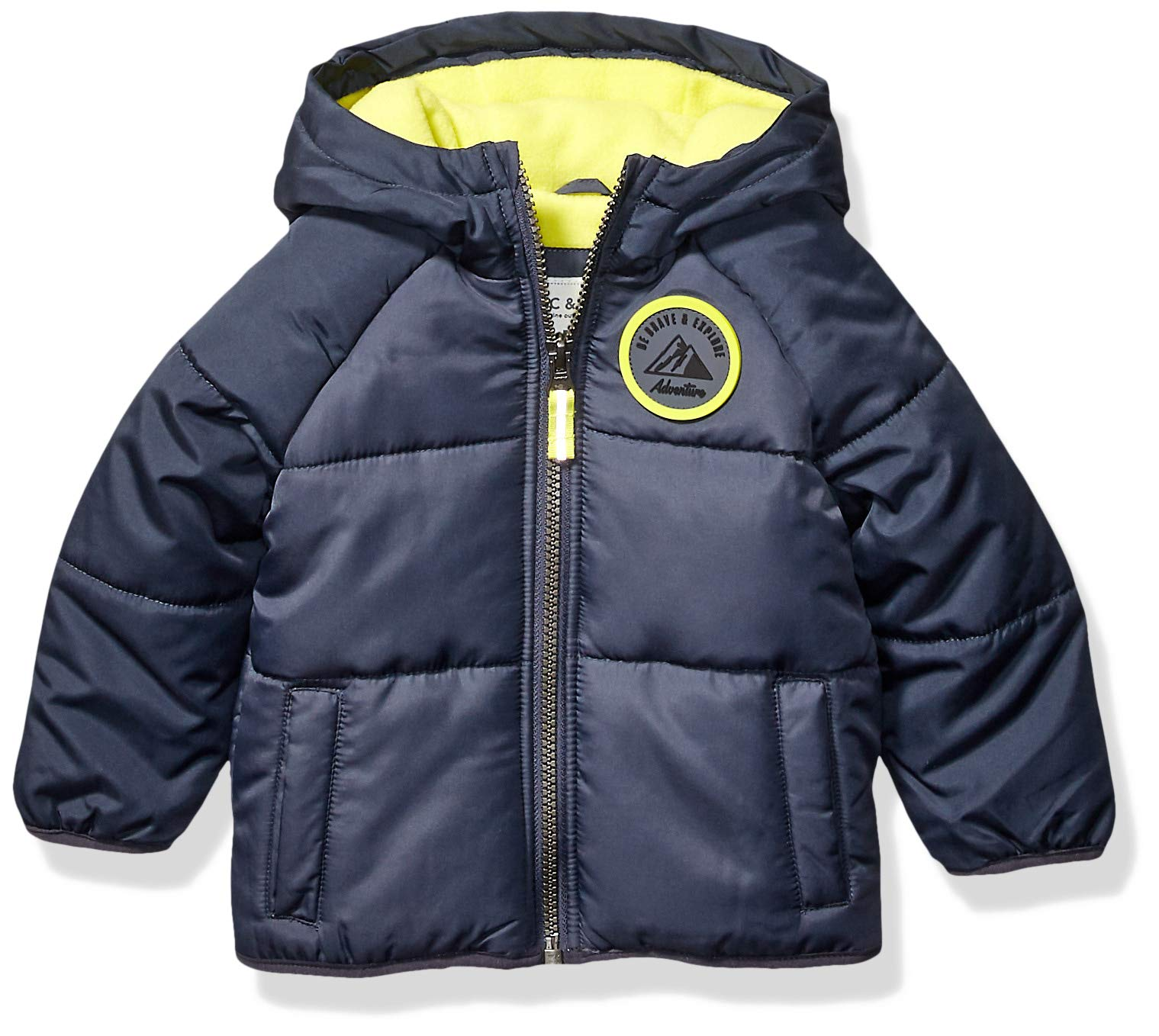 Carter's Baby Boys Adventure Bubble Jacket, Armour Gray/Azul/Radioactive, 18 Months by Carter's