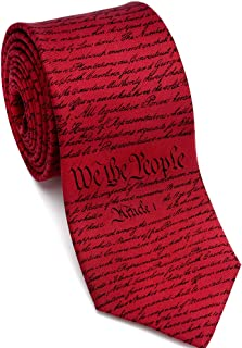 product image for Josh Bach Men's Constitution of United States Silk Necktie, Made in USA
