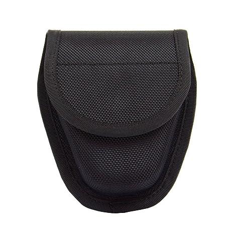 produits chauds paquet à la mode et attrayant section spéciale TTGTACTICAL Handcuff Case, Etui Pochette Nylon Noir pour Paire DE Menotte  Airsoft Porte Menotte