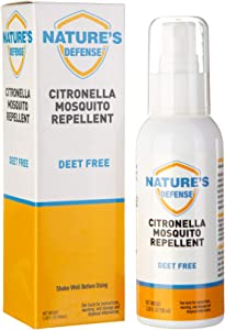 2X Strength Citronella Mosquito Repellent, Great for Kids and Toddlers, Travel Size (100ml, 3.38 oz) Insect & Bug Repellent, Perfect for Camping, Hiking, Outdoors, BBQs