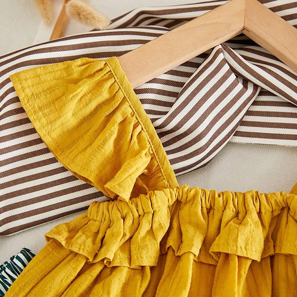 Ananas Print Rock Set 2 St/ücke Kinder M/ädchen Kleidung Kleinkind Bekleidungsset Sommer-Outfit Pwtchenty Tops T-Shirt Weste