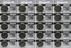 Energizer ECR2032 3-Volt Lithium Coin Batteries (20 Count)
