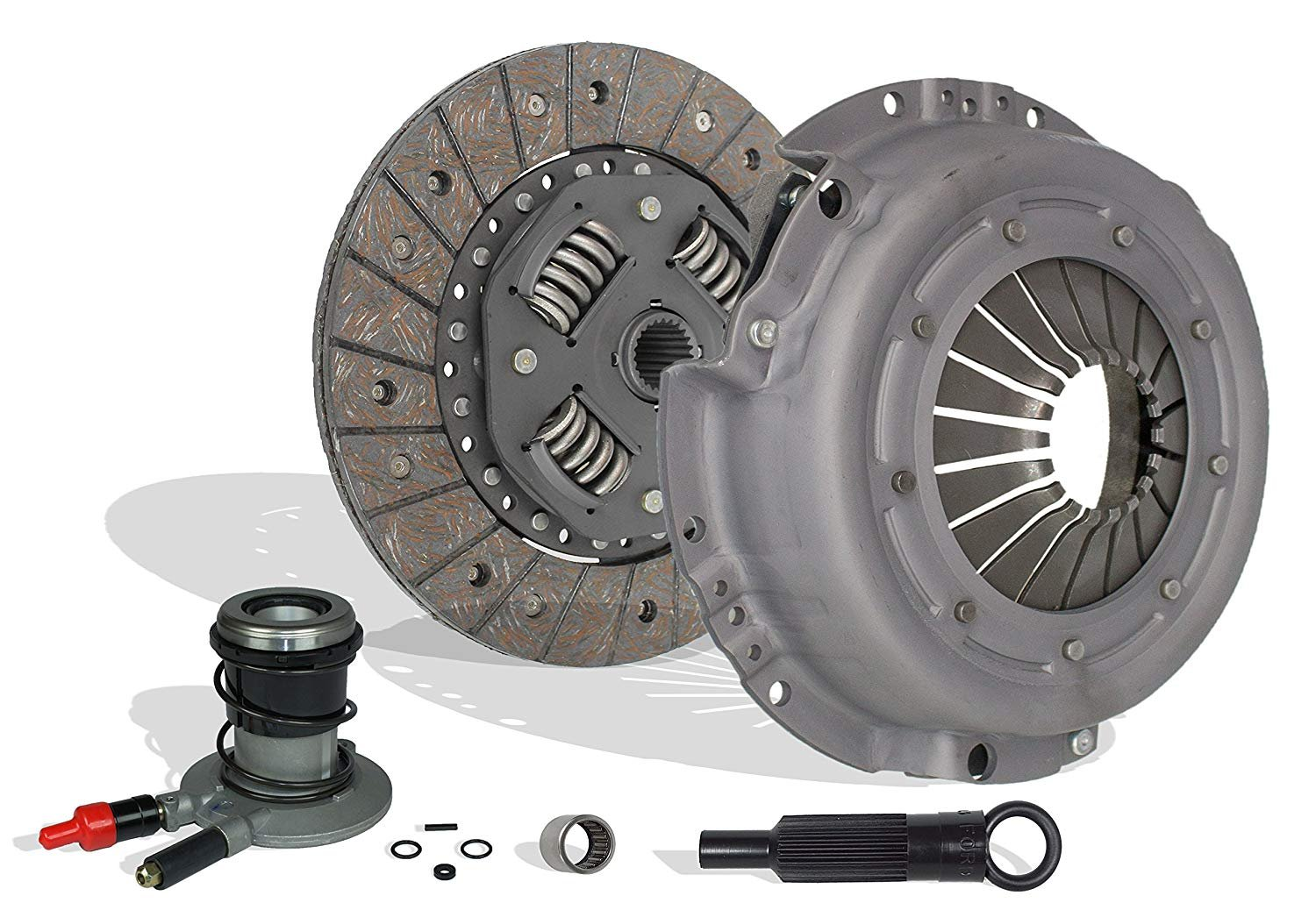 Clutch Kit And Slave Works With Ford Ranger Bronco II Aerostar Custom S  Sport STX XLT XL 1988-1992 2 9L 3 0L V6 GAS OHV 2 0L 2 3L L4 GAS SOHC