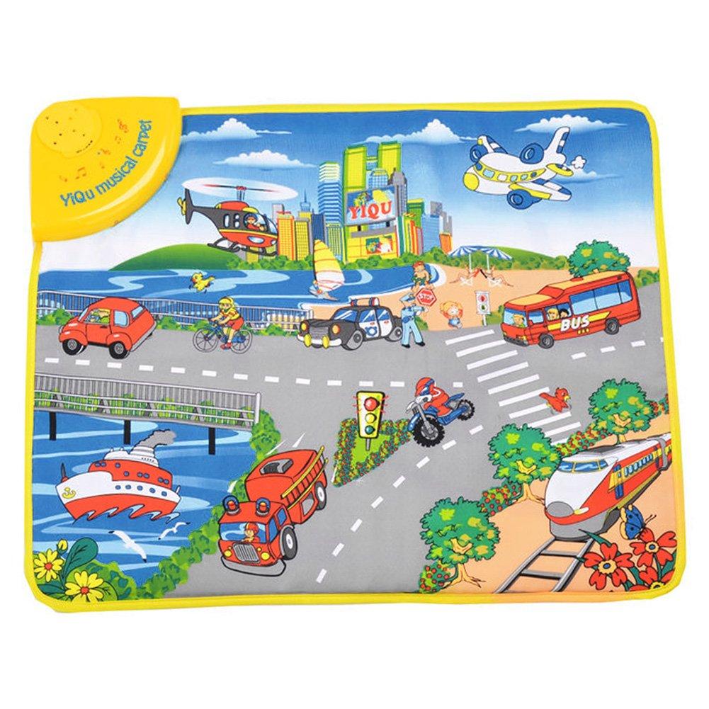 Greensun TM環境に優しい4859 x 2 cm ABS Baby Play Mat MusicalベビークロールカーペットUrbanトラフィックツールCognition再生ラグマット   B07DP7FT97