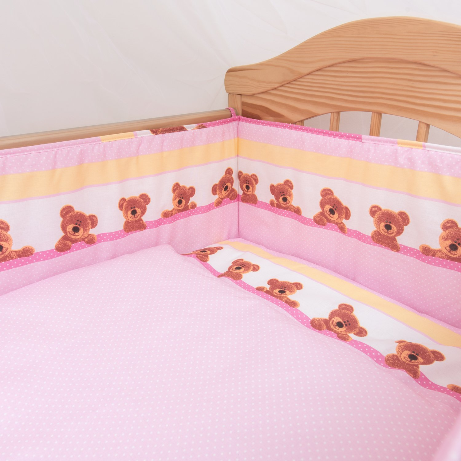 6 Piece Baby Children Bedding Set to Fit 120x60 or 140x70 cm Toddler Cot Bed to fit 140 x 70 cm Cot Bed, 2