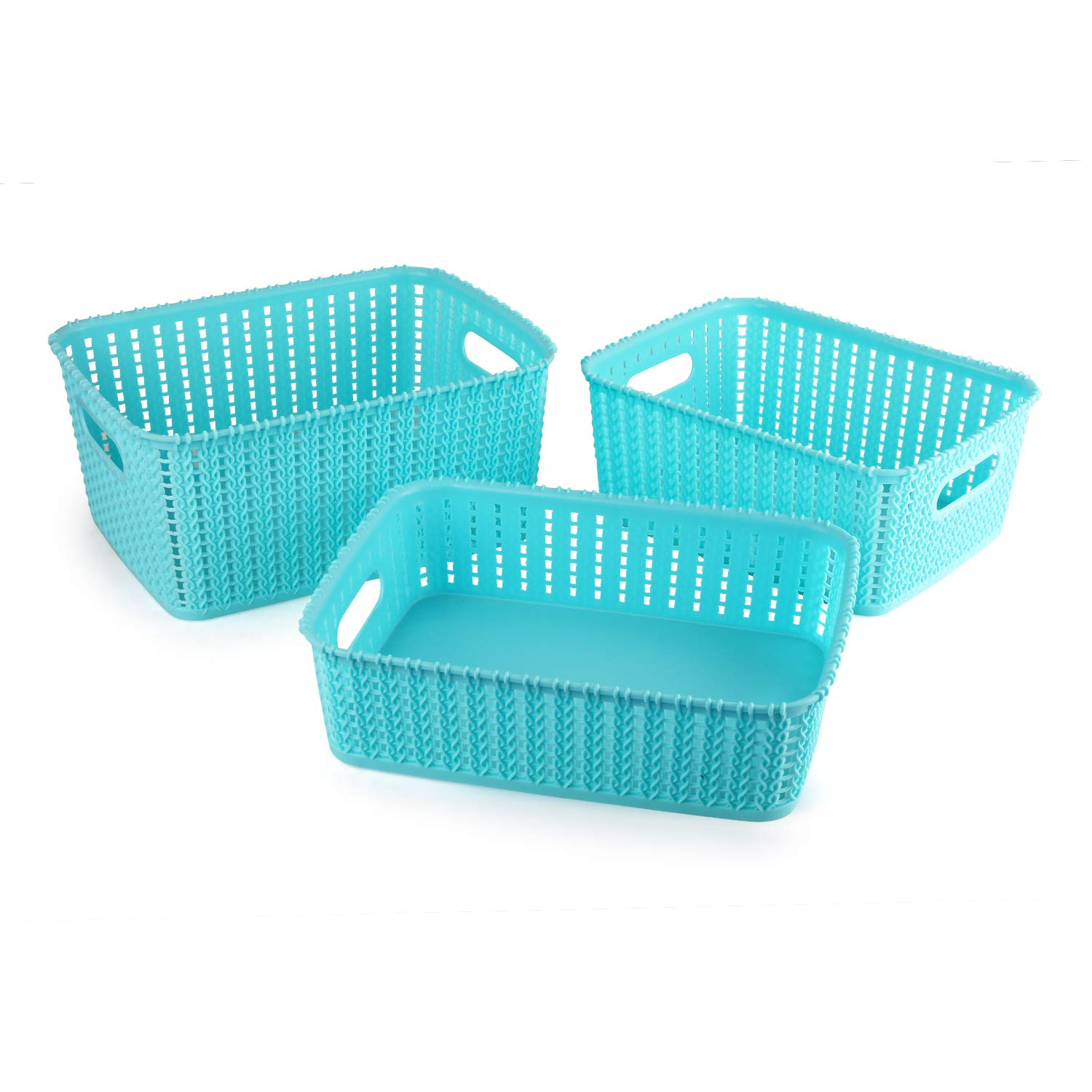 Cello Basket Without Lid, Set of 3