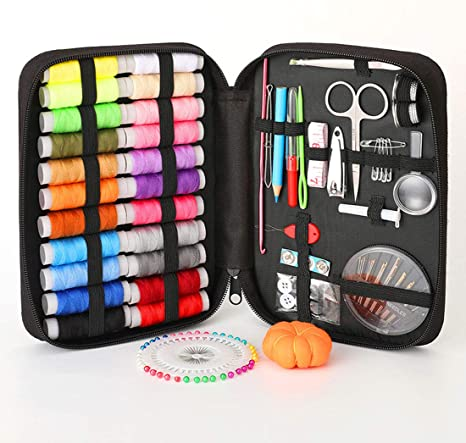 MYYINGELE Mini Kit de Costura de Viaje Suministros de Costura DIY con Eestuche Premium con Accesorios de Costura Mini Set da Portátil para Principiantes Viaje, Black: Amazon.es: Deportes y aire libre