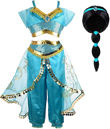 INGSIST Traje de Disfraz de niña Princess Deluxe Dress Disfraz ...