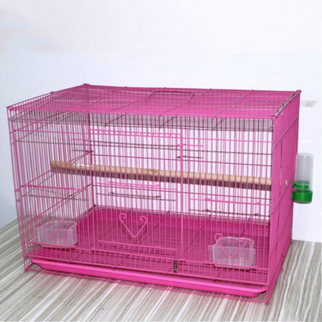 Liuyu · Casa di Vita Gabbia di Allevamento di Pollo Birdcage Metal Pigeon Parrot (colore   rosa, Dimensioni   OverDimensioned 60  42  40cm)