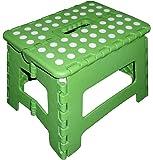 Zeller 99163 Color - Sgabello pieghevole in plastica, 32 x 25 x 22 cm, colore: Verde