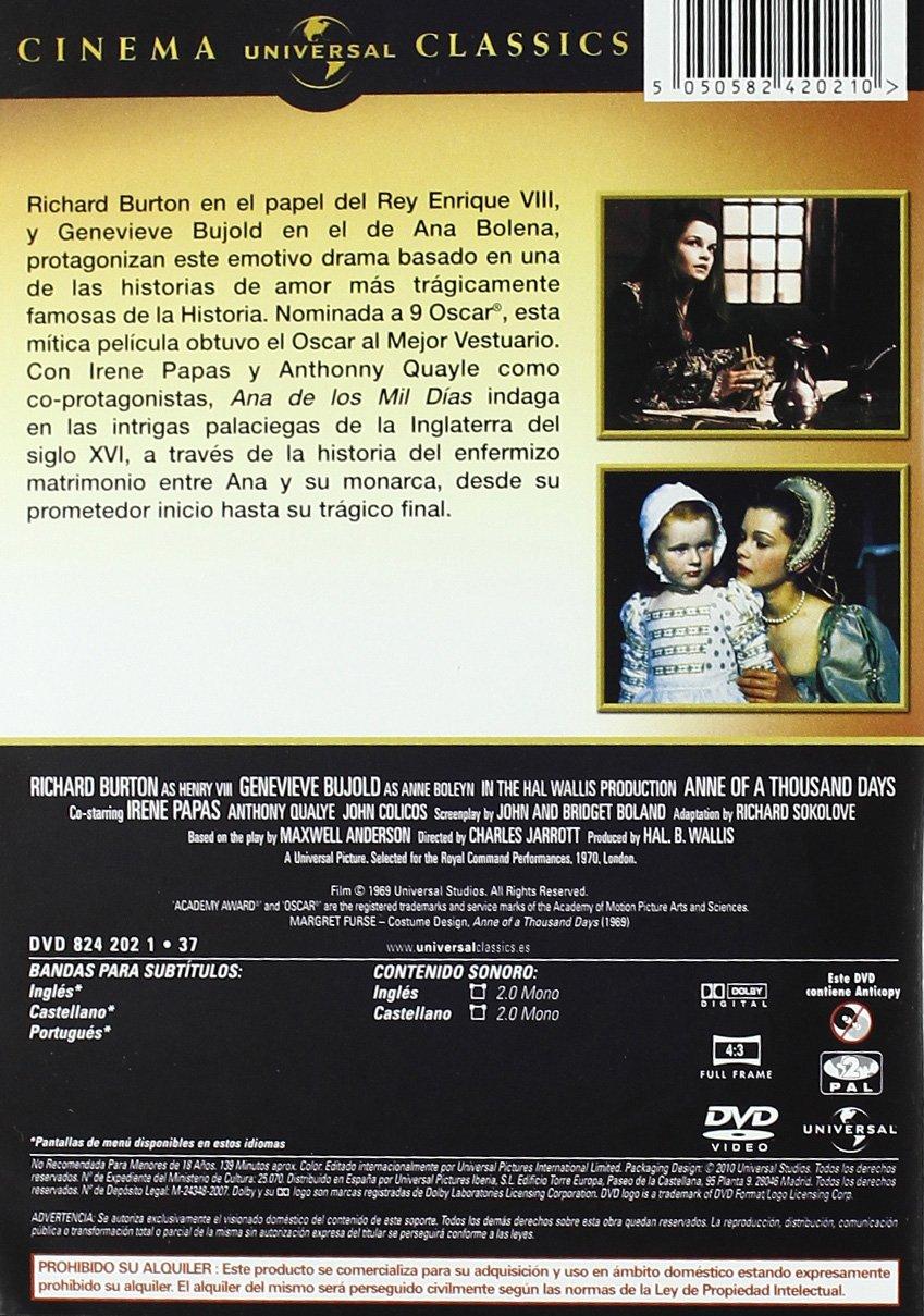 Ana De Los Mil Días [DVD]: Amazon.es: Richard Burton, Geneviene ...