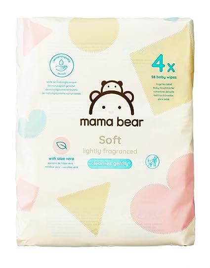 Mama Bear Soft Toallitas Húmedas para Bebé - 4 Paquetes (224 Toallitas)