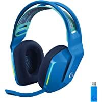 Başlıklı Logitech G733 LIGHTSPEED kablosuz oyun kulaklığı mı? jel, LIGHTSYNC RGB, Mavi VO! CE Mikrofon Teknolojisi, PRO…
