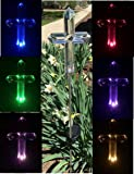 Solar Cross Light Lamp , Solar Powered Garden Decor Stake Color Changing Yard LED Outdoor Landscape Light